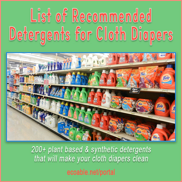 200+ plant based & synthetic detergents  that will make your cloth diapers clean